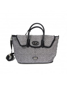 Mia Bag Due manici con borchie All Over - Nero