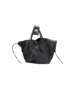 Mia Bag Shopping reversibile nylon - Nero