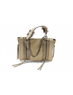 Shopping LA CARRIE BAG Slavery Ecopelle Bottalato | Beige