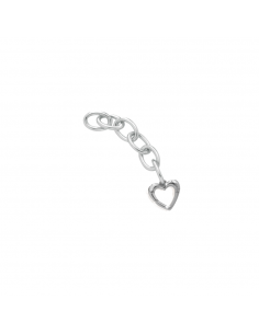 Link Lock Your Love - moschettone cuore argento - LE BEBE'
