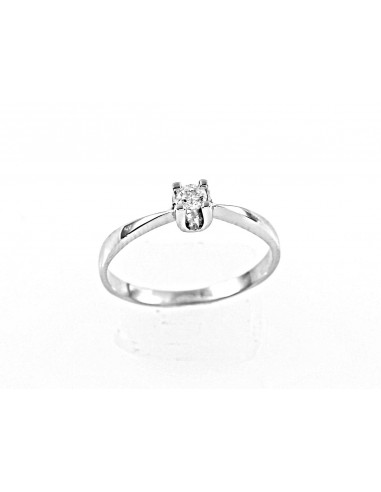 anello solitario diamante kt. 0,07 Opera Italiana Jewellery