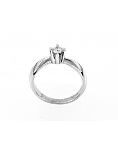 VENEZIA luxury diamond solitaire ring kt. 0.12 Opera Italiana Jewellery