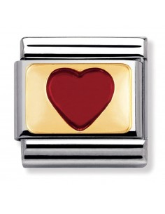 Nomination composable link cuore rosso