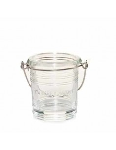 YANKEE CANDLE portacandele in vetro bucket clear