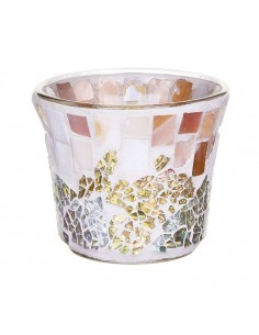 YANKEE CANDLE portacandele gold pearl crackle