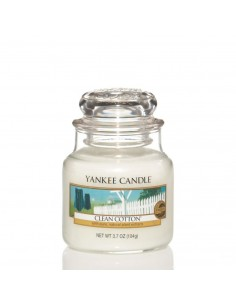 YANKEE CANDLE candela piccola clean cotton