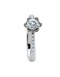 BIBIGI' Vogue anello solitario diamante contorno kt. 0.33