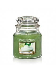 YANKEE CANDLE candela media vanilla lime
