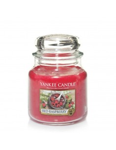 YANKEE CANDLE candela media red raspberry