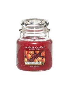 YANKEE CANDLE candela media mandarin cranberry