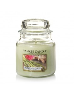 YANKEE CANDLE candela media lemongrass e ginger