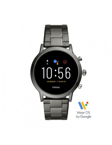 Fossil Smartwatch The Carlyle Hr Smoke in acciaio
