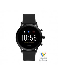 Fossil Smartwatch The Carlyle Hr Black in acciaio e silicone