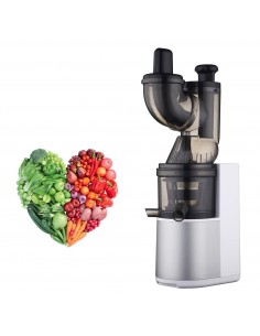 Classe Italy VIVO Big Mouth Slow Juicer in Acciaio