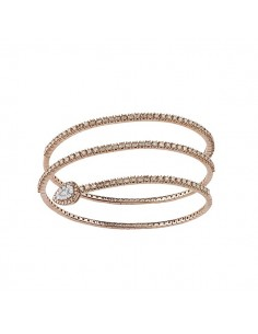 bracciale diamanti SALVINI Precious Loop diamanti brown kt.2.08 oro rosa