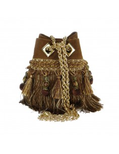 LA CARRIE BAG cheerleaders secchiello small raffia