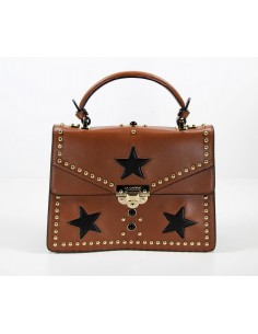 borsa LA CARRIE BAG modello STAR BLACK & BROWN