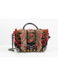 borsa LA CARRIE BAG tracollina JUNGLE DARK BROWN