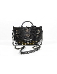 borsa LA CARRIE BAG tracollina JUNGLE BLACK