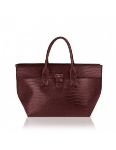 Shopper POMIKAKI Marica, in ecopelle colore burgundy
