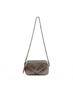 Mia Bag tracolla zip piercing heart piombo